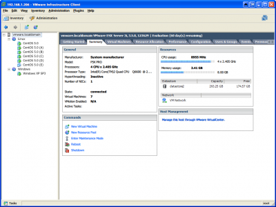 VMware ESXi Server Summary